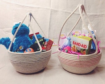 "Medium Cotton Cord Easter Basket ""Made to Order"""