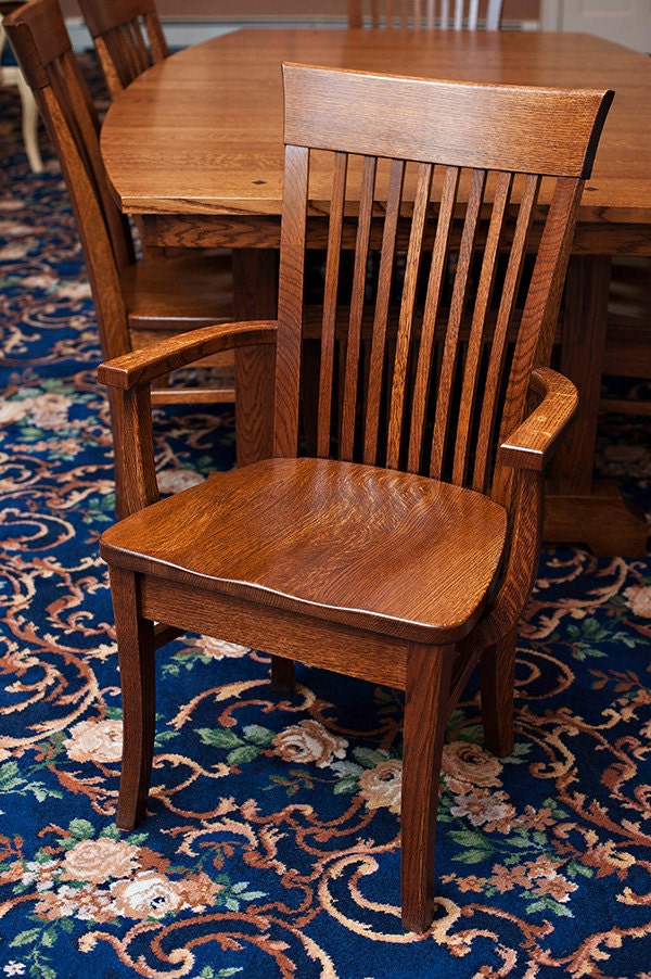 Arts And Crafts Mission Oak Dining Chairs