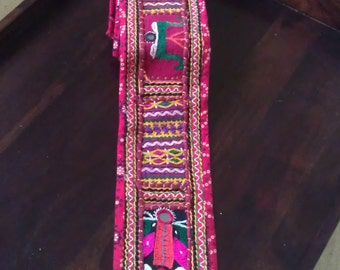 OOAK Patch-work Rabari Border: Hand-embroidered Lace/Border/kutch bordres/Indian Vinatge borders/Handmade borders/Banjara Boders/Supplies