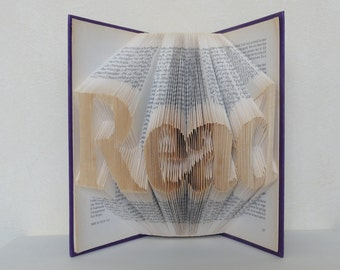 Folded Book Art - Read - Unique present