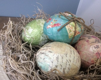 Easter Decoration, Decoupage Easter Eggs