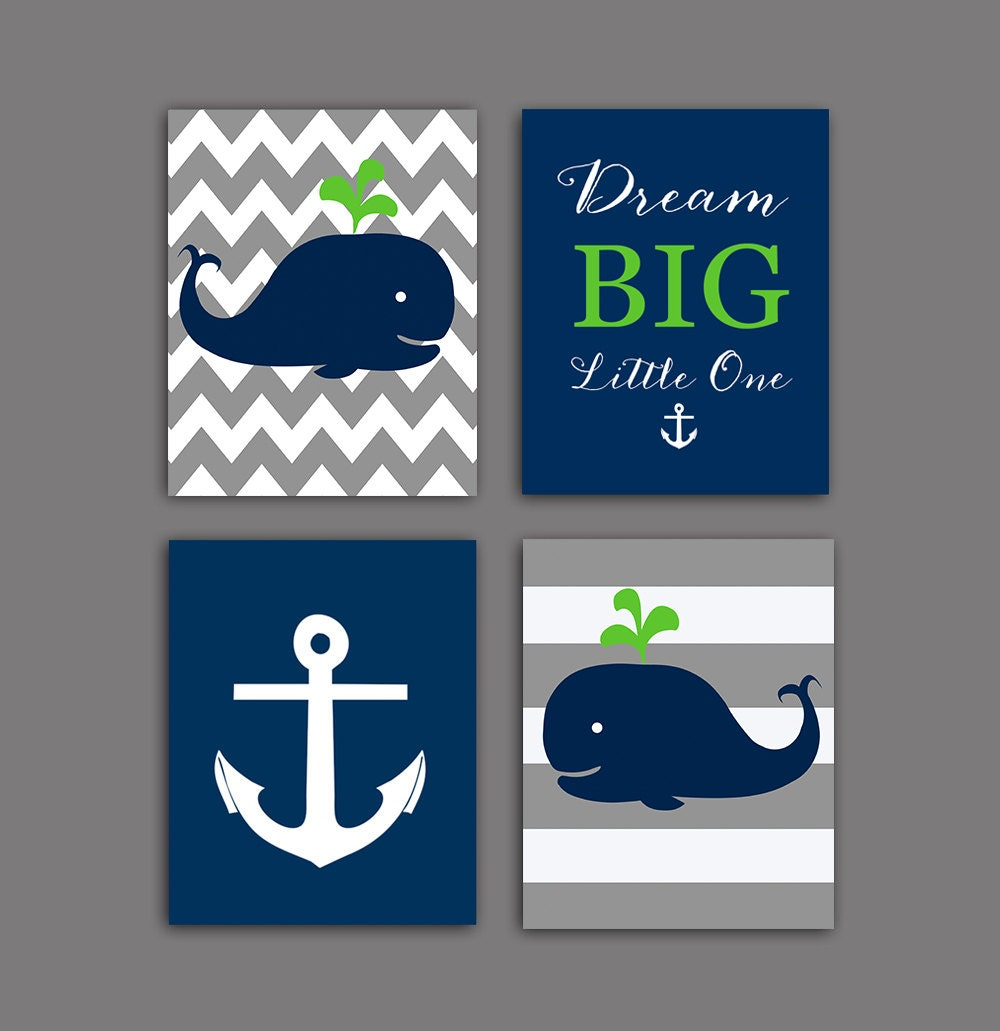 50 off sale nautical nursery wall decor whale nursery art for Anchor decor
