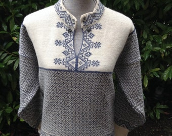 Dale of Norway, Norwegian wool sweater made in Norway-size M