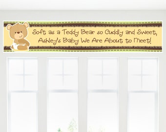 Teddy Bear Banner - Custom Baby Shower or Birthday Party Decorations