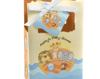 Noah's Ark Favor Boxes - Custom Baby Shower and Birthday Party Supplies - Set of 12