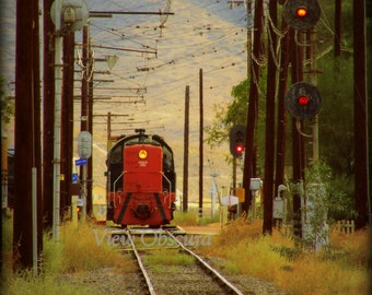 Signals - Vintage Diesel Railroad Locomotive - Limited Edition Signed and Numbered Poster Print