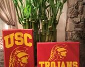 USC Trojans Wood sign 6x9 pine wood