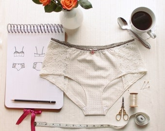 Lingerie Panties Sewing Pattern Ohhh Lulu 1302 Grace Hipster Panties