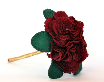 Flower Girl Bouquet / Everlasting Bouquet / Felt Bouquet / Peony Bouquet / Lasting flowers / Tiny hands Bouquet /  Wedding flowers