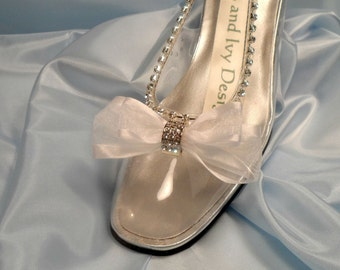 Cinderella's Glass Slipper Wedding Shoes,  Cinderella Shoes Glass Bridal Shoes, Fairytale Shoes, Glass Shoes