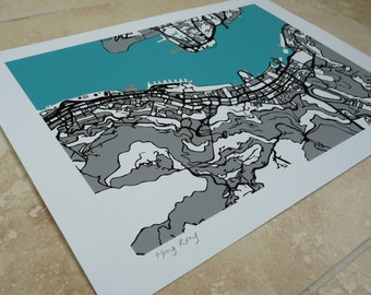 Hong Kong Art Map - Limited Edition Contemporary Giclée Print