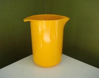 Vintage Rosti Denmark Melamine Pitcher 1L - Bright Yellow/Orange