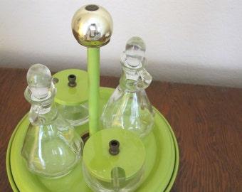 Vintage Cruet Set-oil, vinegar, and condiments - free shipping