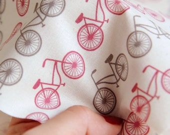 Lovely and Simple Bicycle Pattern Cotton Fabric - 2 Colors Selection