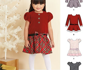 Toddlers' Dresses Simplicity Pattern 1262/S0483