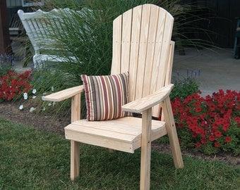 Yellow Pine Upright Adirondack Chair
