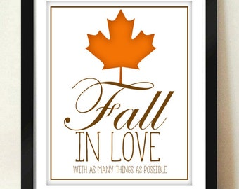 Digital Download Fall In Love Printable / Digital Download/ INSTANT