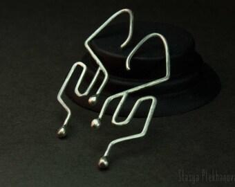 Silver earrings, Sterling silver earrings, Minimalist earrings