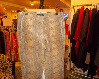 1980's Leather snakeskin pants from guess