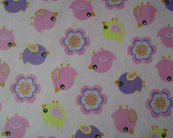 Doves Pink Flannel Fabric by the yard