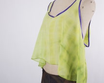 Tie-Dye Swing Tank,Green Top,Bohemian Clothing,Hippy Tops,Hippie Tank Top,Beach Wear,Festival Clothing,Psychedelic Clothes,Trippy Shirt,Rave