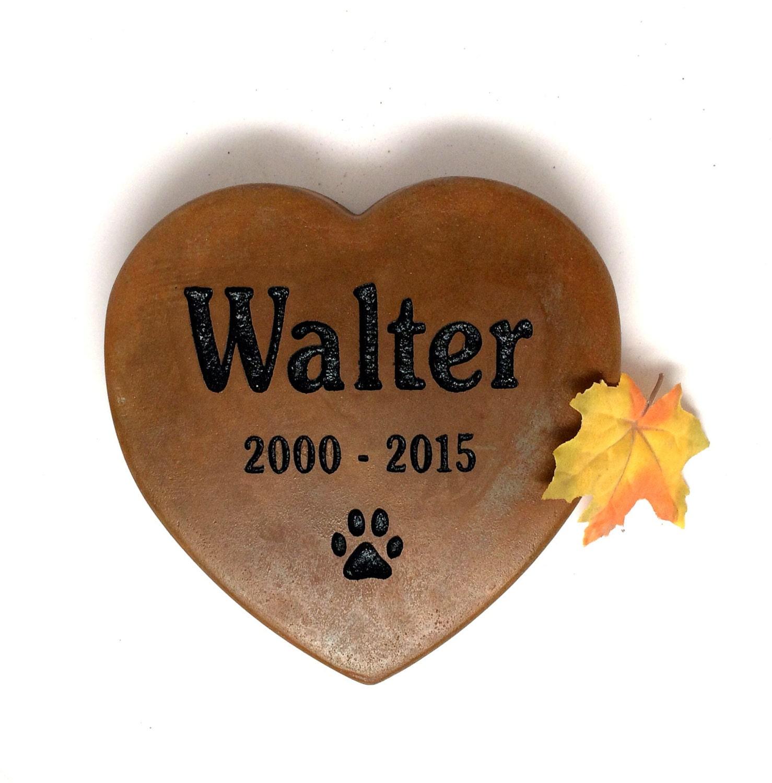Heart Shaped Pet Memorial Stones