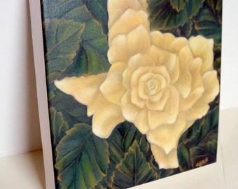 Yellow Rose of Texas--Art Wall Decor--Yellow,Green,Orange--Giclee Print on Canvas--Yellow Rose--Traditional--Modern Texas Art--Home Decor.