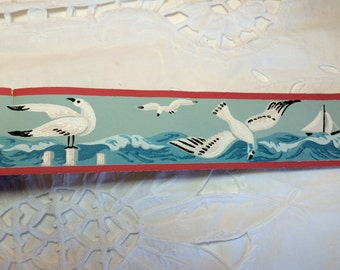 Vintage Wallpaper Sea Gulls Border