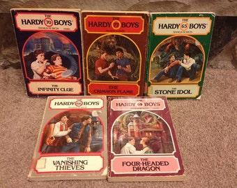 Set of 5 The Hardy Boys Novels