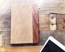 Tan Leather and Walnut Wood iPad Mini 4 Case