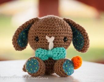 Spring Bunny, Crochet Easter Bunny, Crochet Brown Bunny, Amigurumi Bunny Rabbit, Plush Bunny Rabbit