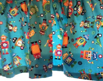 Comical Robot Valance ~ Boys Room Decor~ 41 inches Wide x 15 inches Long