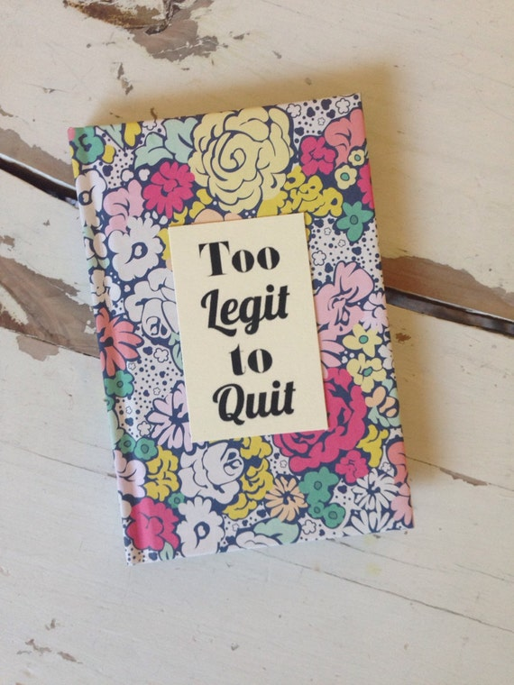Too legit to quit - Motivational notebooks that will inspire you // The PumpUp Blog