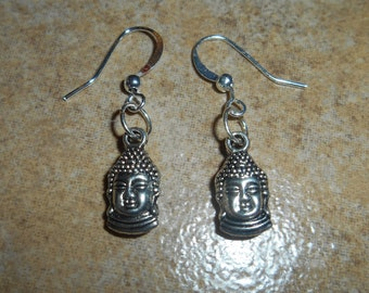 Buddha Earrings, with silver ear wires