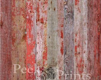 8ft.x8ft. Red Barn Wood Vinyl Backdrop WOOD FLOORDROP
