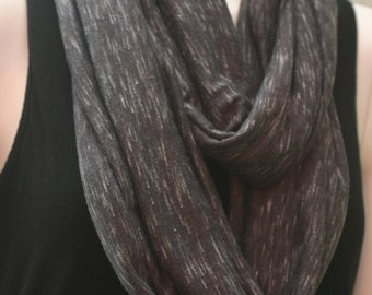 Grey Jersey Knit Infinity, Circle Scarf