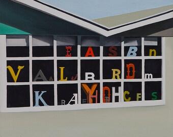 Window Letters print