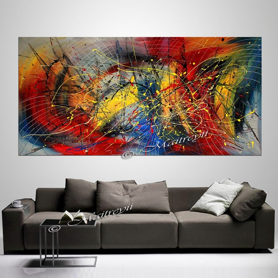 Original painting extra large abstract paintings by for Artwork on canvas for sale