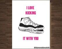 Just Beacuse Card. Jordan Shoes Card, Michael Jordan, for him, her, Boyfriend, Girlfriend, Streetwear