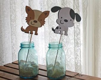 Puppy Centerpieces - Puppy Party - Puppy Shower - Terrier Party - Dalmation Party -Dog Party