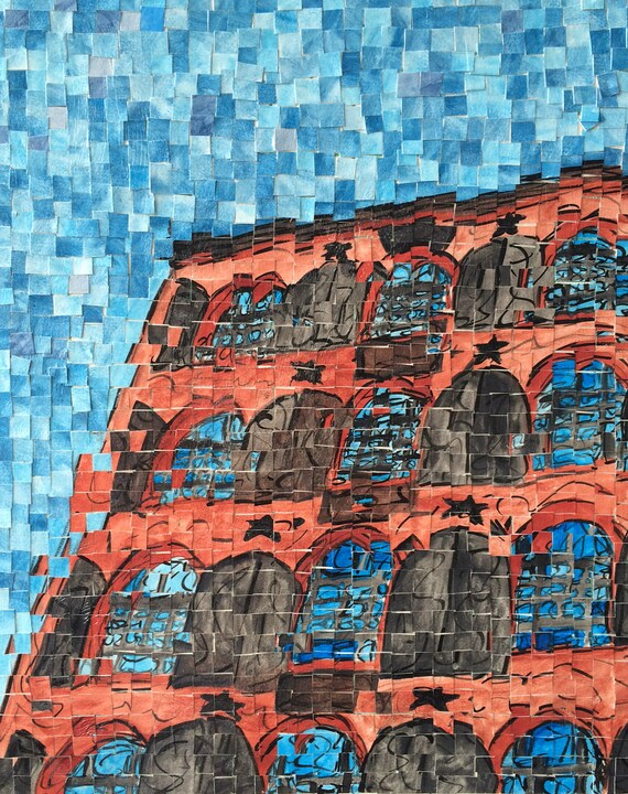 "New York City - Brooklyn -Red Hook Waterfront - Architectural Art: 16""x20"" Original Painting"