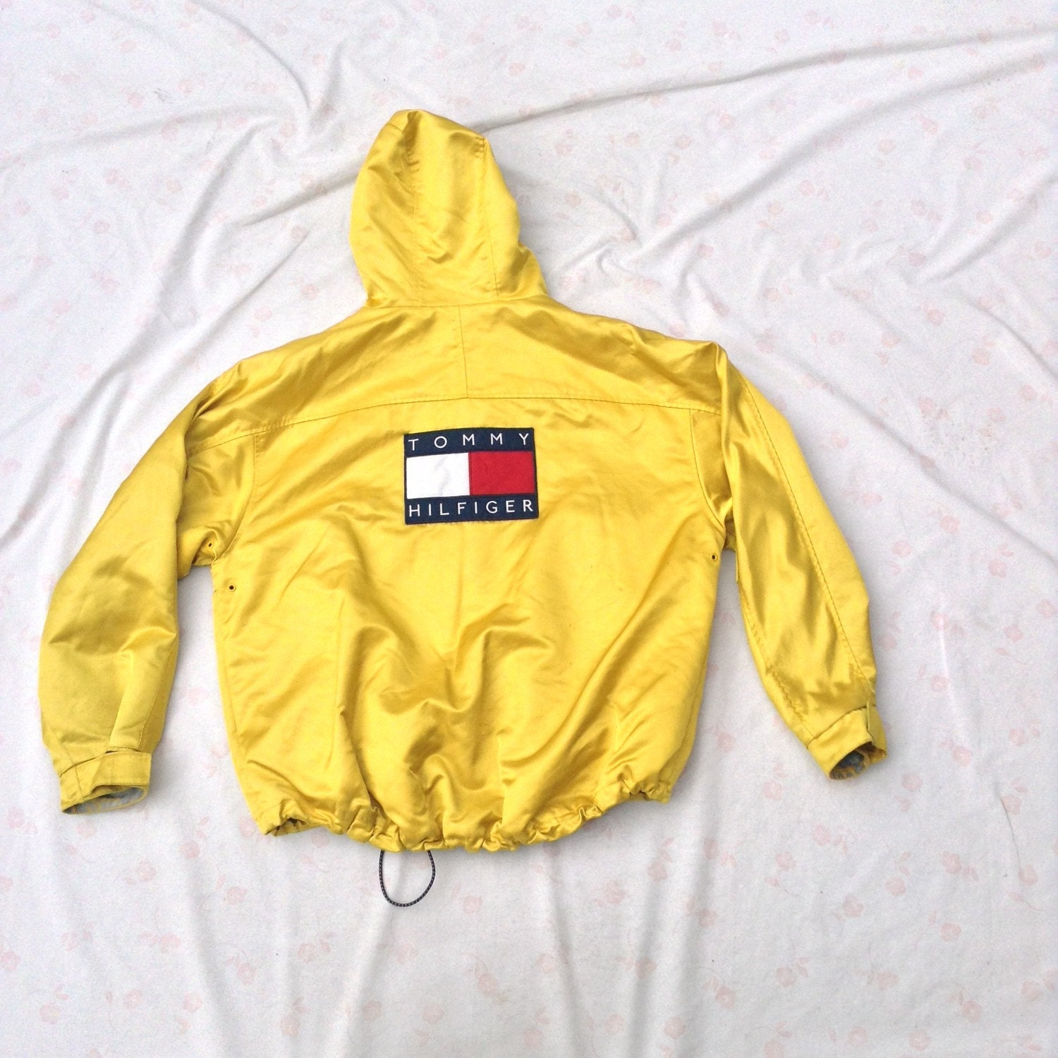tommy hilfiger jacket yellow shiny swag oversized 2x. Black Bedroom Furniture Sets. Home Design Ideas