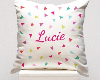 Personalised Cushion - Pink Confetti