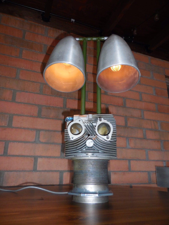 Lamp Shade On Head : Aircraft cylinder head lamp
