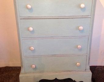 SOLD / SHIMMER / painted dresser / furniture