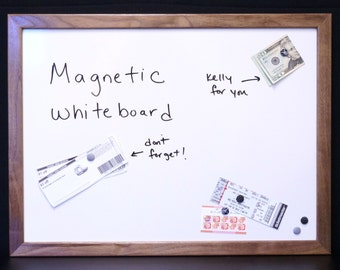 """18""""x24"""" Magnetic Dry Erase Board / Magnetic Whiteboard - Solid Wood Framed Message Center - Message Board - Command Center - Magnet Board"""