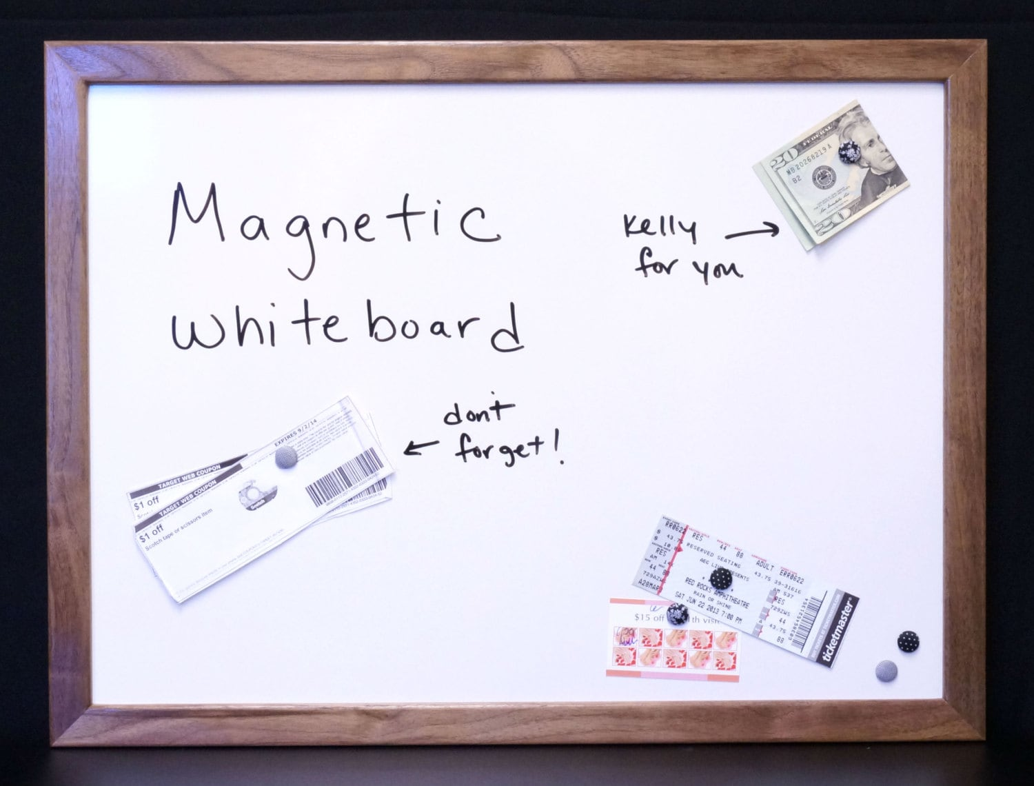 Magnetic craft board - 18 X24 Magnetic Dry Erase Board Magnetic Whiteboard Solid Wood Framed Message