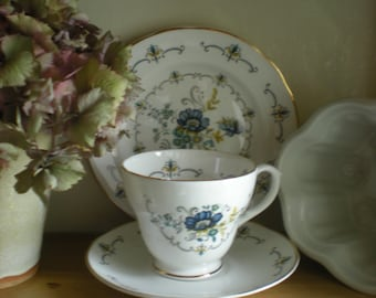 Fenton Bone China Trio, Cup Saucer & Side Plate