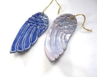 2 wings, tree ornaments, ceramics (1560)