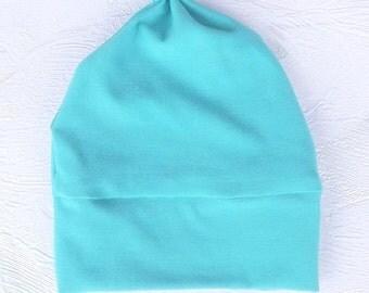 Baby Turquoise Hat, Baby Hat, Baby Boy Hat, Baby Girl Hat, Knotted Newborn Hat, Newborn Hat